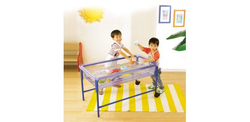 Sand & Water Tray-Clear (110x60.5x21.5cm deep, 58cm stand)