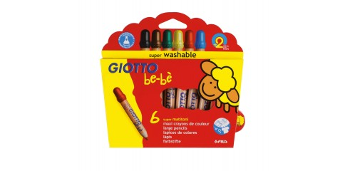 Giotto Bebe Large Col.Pencil-6 Asstd