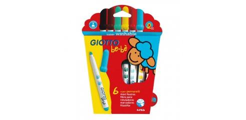 Giotto Bebe Super Fibre Pen-6 Asstd Cols