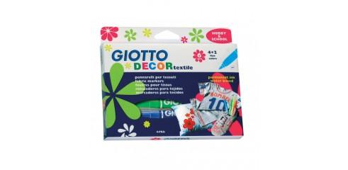 Giotto Decor Textile F/Pen Hang 6pcs/Box