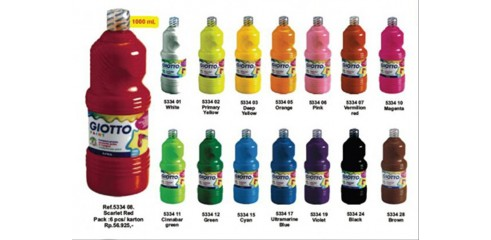 Giotto School Paint 1000ML (Various Colors)