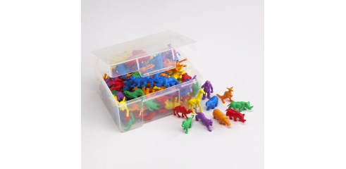 Wild Animals Counters-120 Pcs In A Container