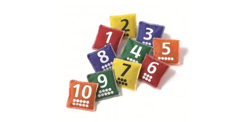 Number/Dot Bean Bags (10x10cm)-Set Of 10