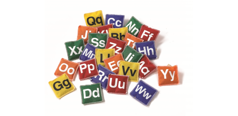 Alphabet Bean Bags(10x10cm)-Set Of 26