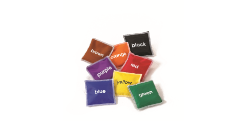 Color Bean Bags(10x10cm)-Set Of 8 Colours)