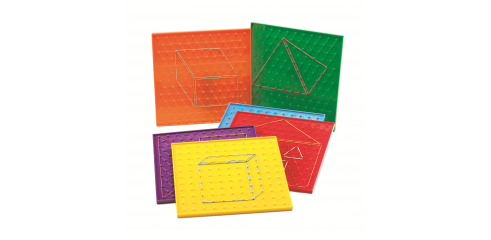 "9"" Geoboards(23cm)-Set Of 6"
