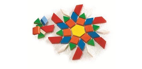 Pattern Blocks ( Wood, 250 Pcs)