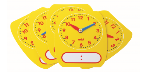 Write-On/Wipe-Off Clock Dials (Pack Of 5)