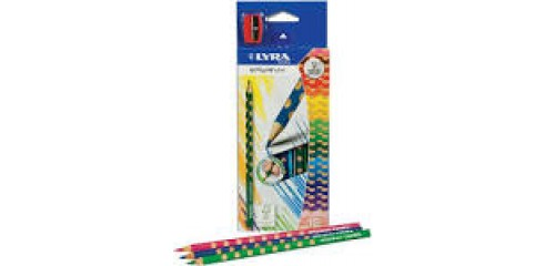Lyra Groove Slim Coloured Pencils In 12 Colours