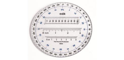Protractor (12cm, Dia. 360d, 10pcs)