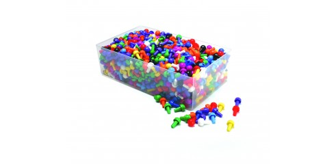 1000 Assorted Pegs (100 x 10 colours + box)