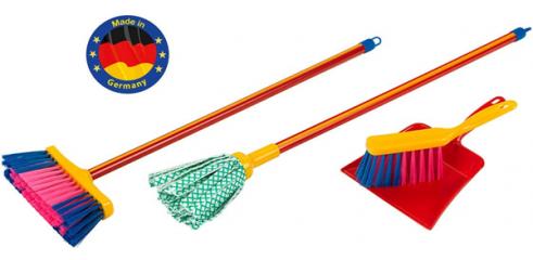 Wipe mop set, 55cm (total 4 pcs)