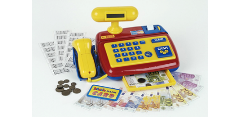Electronic cash register with scanner