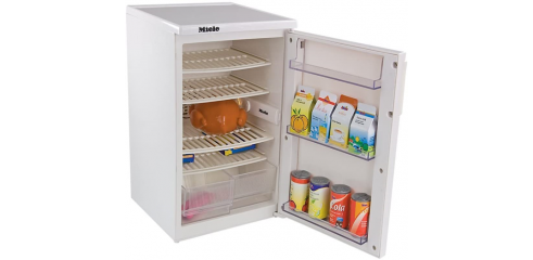 """Miele refrigerator (27cm high) -  Play functions - with light and fan operation when the door is opened Battery-powered Battery: 1, 5 v, AA-size"""