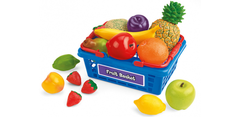 Let's Go Shopping Basket with Assorted Fruits