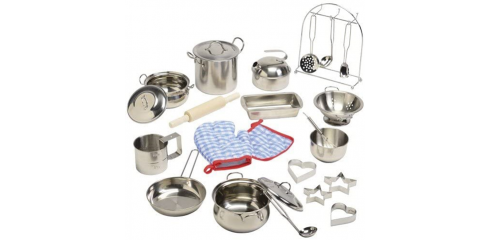 Kids Size Stainless Steel Cookware, 20 pcs