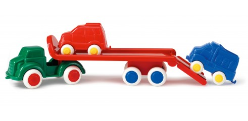 Car transporter with 2 cars