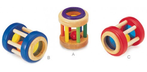 Colourful Wooden Rattle